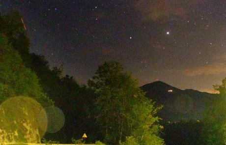 Der Sternenhimmel über unserem Camp beim Slowenien Retreat in der Natur